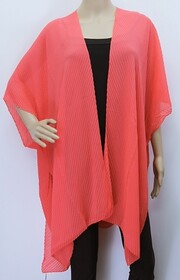Cape - Accordion Pleat Coral