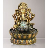Water Fountain Ganesha with Ball (indoors)