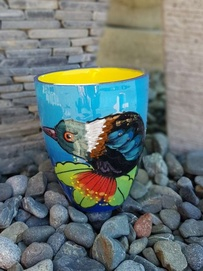 NZ Made Hand Painted - Tui Blokes Mug