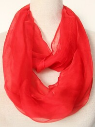 Scarf - Summer Snood Scarf - Red