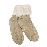 Slippers - Slumbies - Cable Knit Sherpa Socks