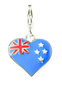 Sterling Silver Charm / NZ Heart Flag