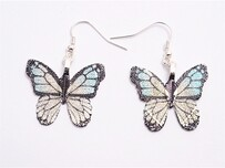 Earrings - Blue Butterfly