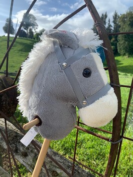 Hobby Horse with Sound - Grey