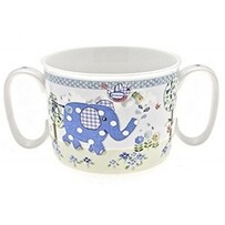 Little Bird & Ellie Twin Handle Blue Baby Cup