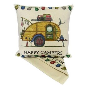 Cushion - Happy Campers Vintage