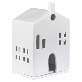 Porcelain Tealight House - Arched Door