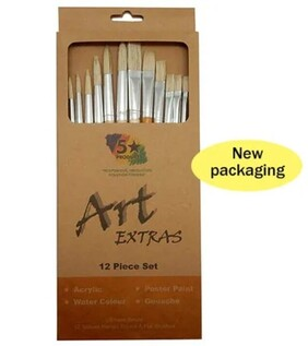 Art Extras - 12 Piece Paint Brushes