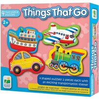 4 x two Piece Puzzles - Things That Go