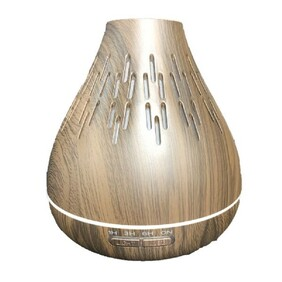Ultrasonic Diffuser - Natural Wood Grain - Bulb Shape