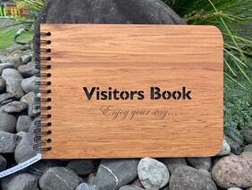 A4 Rimu Visitors Book
