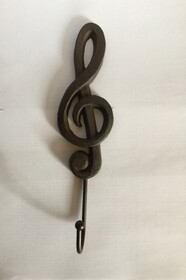 Cast Iron Music Treble Clef