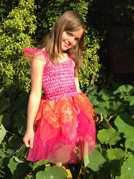 Hot Pink & Orange Princess Dress