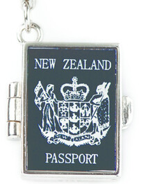 Sterling Silver Charm / NZ Passport