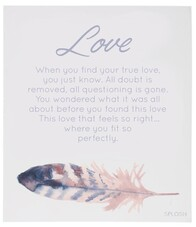 Spirit Wooden Plaque / Love