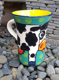 NZ Made Handpainted - Theme Mug - Cow