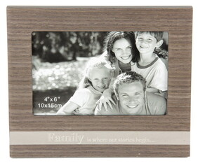 Veneer Photo Frame with sayings / Family
