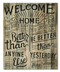 Welcome Home Sign (solid wood) / 65cm x 80cm
