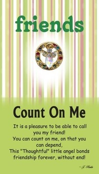 z Affirmation Angel Pin - Friends Count on Me