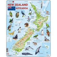 Cardboard Puzzles - Larsen / Map of NZ (71pc)