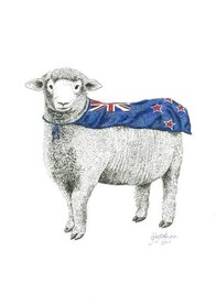 NZ Made Art Print / Krystal Lynn Super Ewe 32cm x 43cm