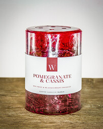 W Scented Candle 7cm x 7.5cm - Pomegranate & Cassis