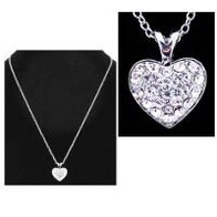 Necklace - Diamante Heart