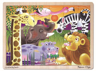 African Plains Wooden Puzzle 24pc