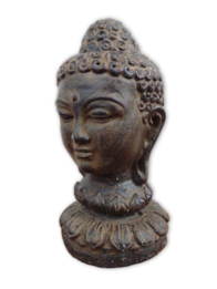 Garden Ornament - Lotus Buddha w Bronze Head