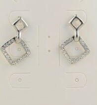Earrings - Crystal Diamond Drop Earring