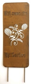 Garden Plaque - Native Fantails