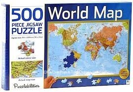 500pc World Map Puzzle