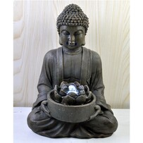 Water Fountain Buddha with Lotus Flower