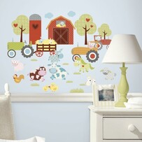 RoomMates Peel and Stick Wall Decals / Barn Yard