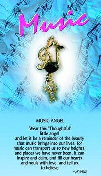 z Affirmation Angel Pin - Music Angel