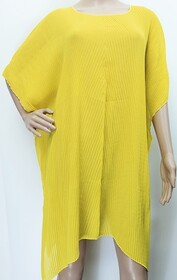 Summer Coverall - Accordion Pleat Yellow