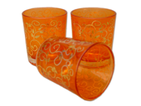 Tealight Candle Glass / Orange