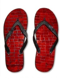 Mosaic Jandals (pair) / Red