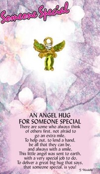 z Affirmation Angel Pin - Hugs for Someone Special