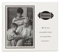 White Photo Frame with Metal Plate / Memories