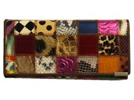 Patch Work Wallet - Large