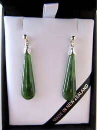 Earrings - Pounamu Drop