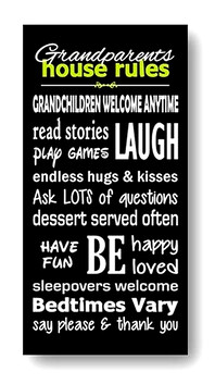Grandparents House Rules - Large Wall Art