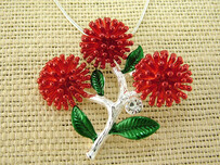 Necklace - Red Pohutukawa Necklace