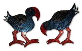 Mosaic Pukeko - Head Up