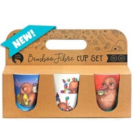 Kuwi the Kiwi Bamboo Cup Set