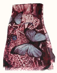 Scarf - Burgandy Butterfly