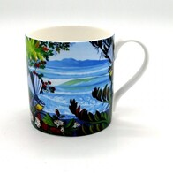 NZ Print Coffee Cup - Seaview Fantail