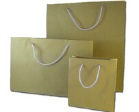 Matt Craft Paper Bags with Blue Handles per 50 Bags