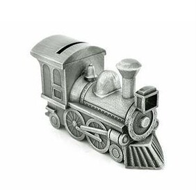 Pewter Platen Train Money Box